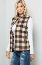 Load image into Gallery viewer, Plaid Quilted Vest
