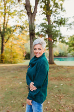 Load image into Gallery viewer, Deep green wrap sweater