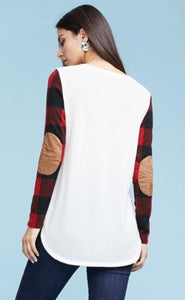 Buffalo Plaid With Elbow Patch