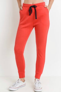 Work It Out - tapered drawstring joggers