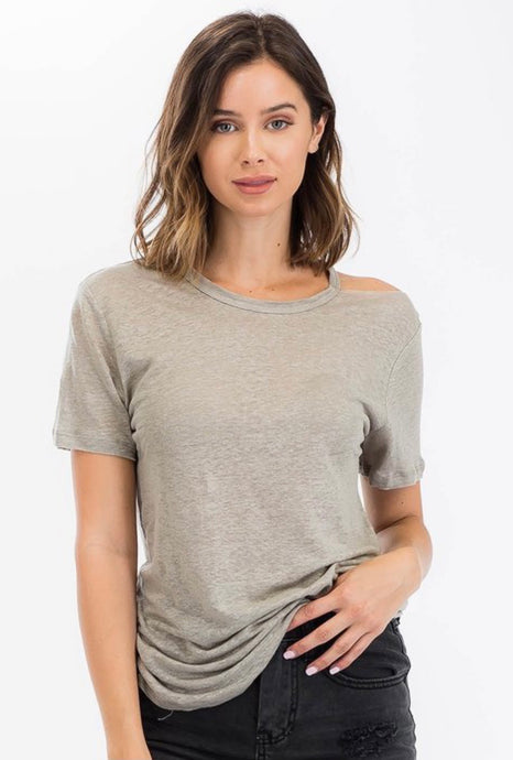 Moss One Cold Shoulder Tee
