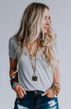 Load image into Gallery viewer, Three Bird Nest Gray Scoop Bralette Tee