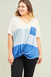 Pretty Girl Rock - knotted twist top
