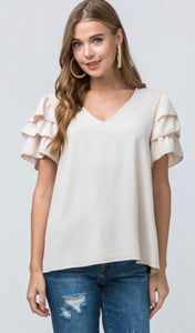 Charming Effect- ruffle tiered top
