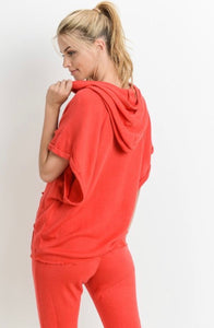 Work It Out - short roll-up hoodie