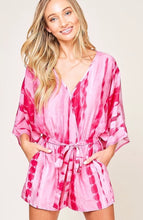 Load image into Gallery viewer, Poolside Tie Dye - pink romper