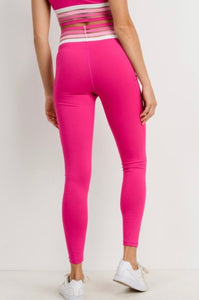 Goal Digger - high waist magenta leggings