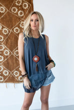 Load image into Gallery viewer, TBN Enchanted Lace Tank Blue
