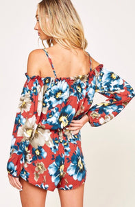 Take Me To Hawaii - Floral Romper