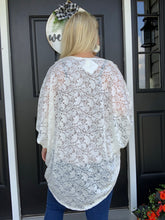 Load image into Gallery viewer, Rose Open Cardigan White