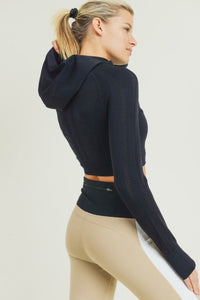 Up A Notch - seamless perforated crop