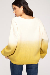 Mustard ombré sweater