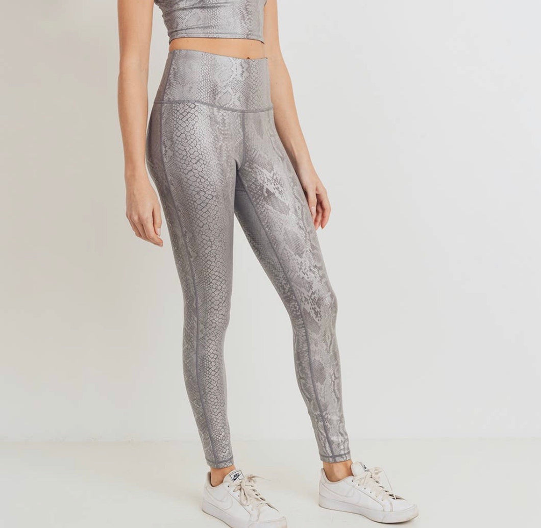 Copperhead// silver leggings