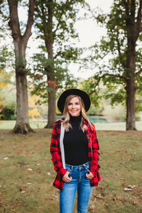 Red Plaid Fur Lined Button Down
