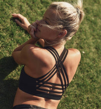 Load image into Gallery viewer, Interlock Criss-Cross Back Strap Sports Bra