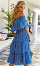 Load image into Gallery viewer, Off The Shoulder Ruffle Dress