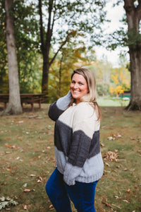 Taupe Charcoal Sweater