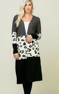 On To Better Things - animal print cardigan