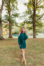 Load image into Gallery viewer, Hunter Green Sweater Dress