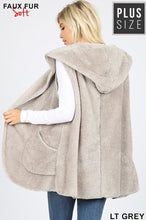 Load image into Gallery viewer, Light Heather Faux Fur Vest