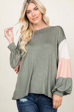 Load image into Gallery viewer, Just Be Beautiful- long sleeve loose top
