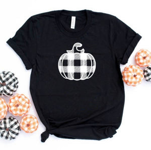 White Plaid Pumpkin