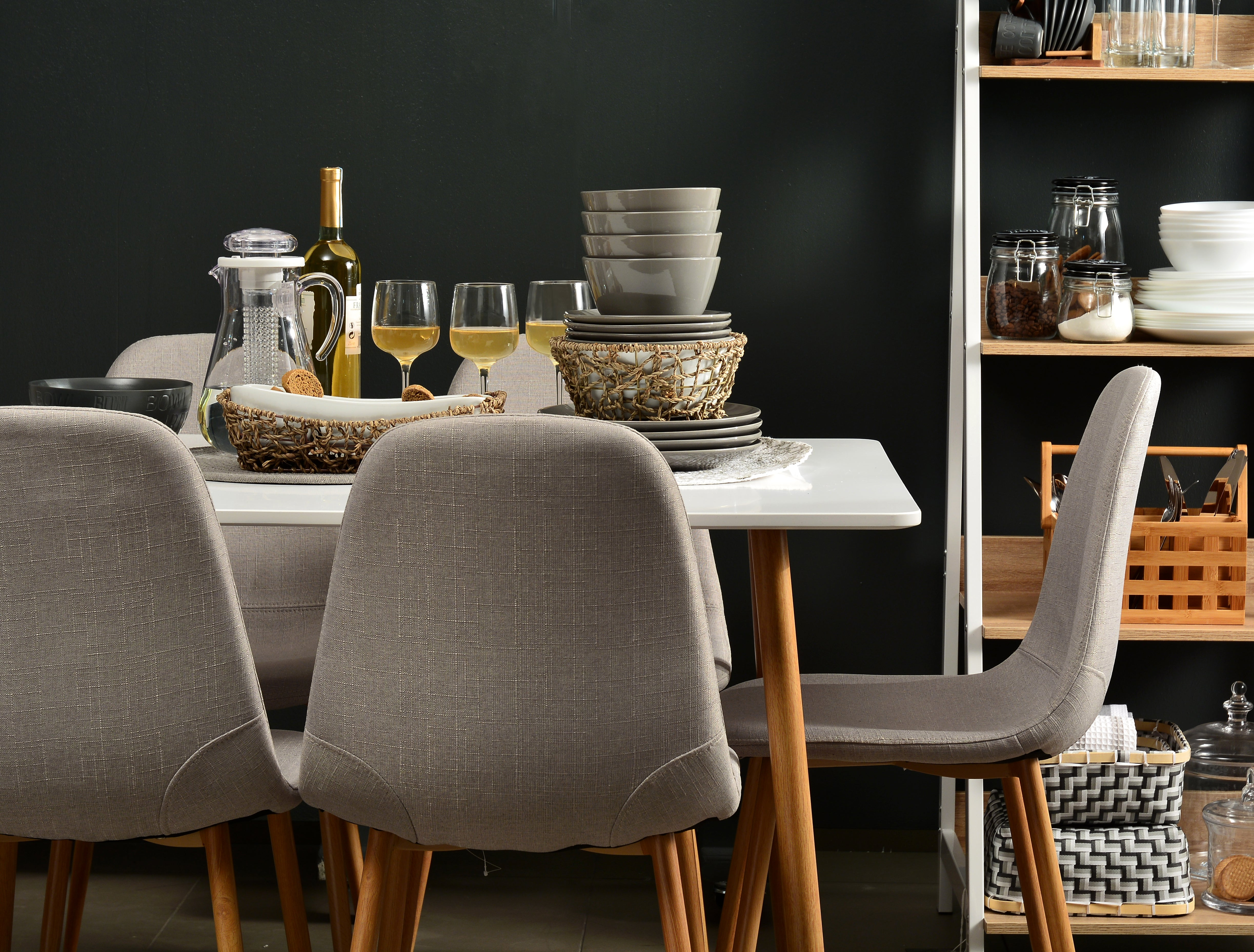 INO DINING CHAIR (GREY)