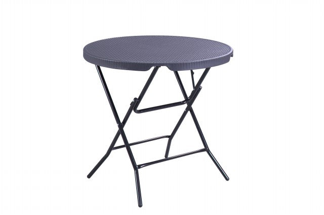 DOMO FOLDING ROUND TABLE (BLACK)