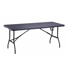 Domo Folding Rectangular Table (Black)