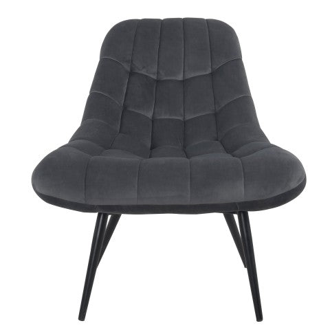 MANDY ARMCHAIR 87X76X85,5cm GREY VELVET