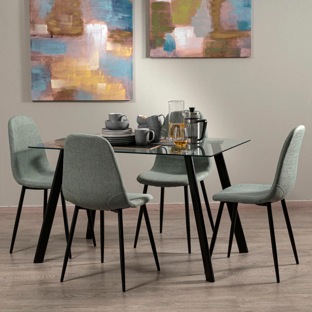 Paula Dining Chair (Blue Green)