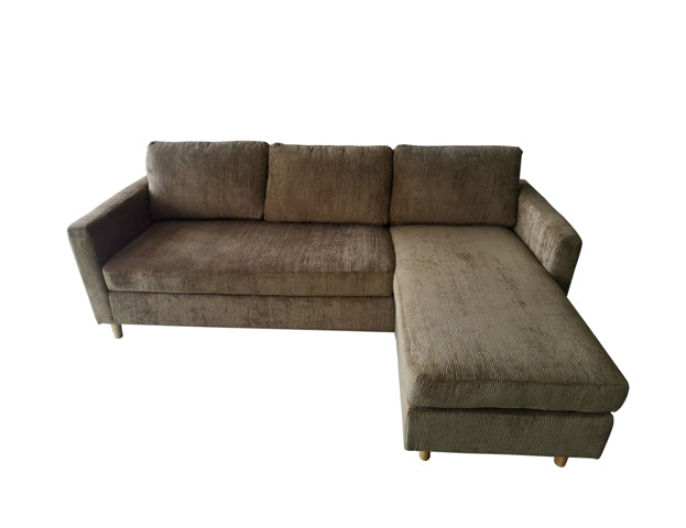 ORLOF CORNER SOFA 219X146X80CM/87X57X31IN BROWN