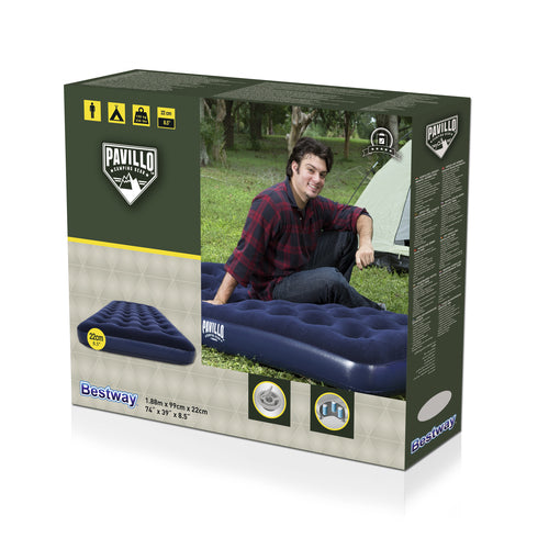 FLOCKED AIR BED / TWIN