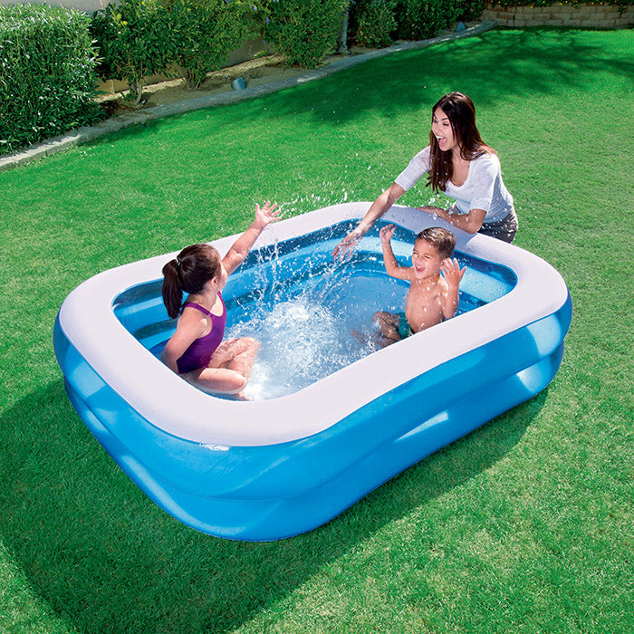 "6'7"" x 59"" x 20""/2.01m x 1.50m x 51cm Blue Rectangular Family Pool"