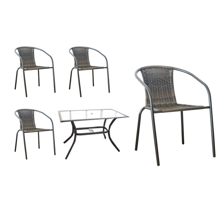 PATIO SET 5PCS. (BROWN)