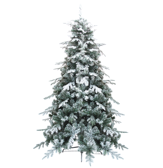 CHRISTMAS TREE WITH SNOW (8FT)