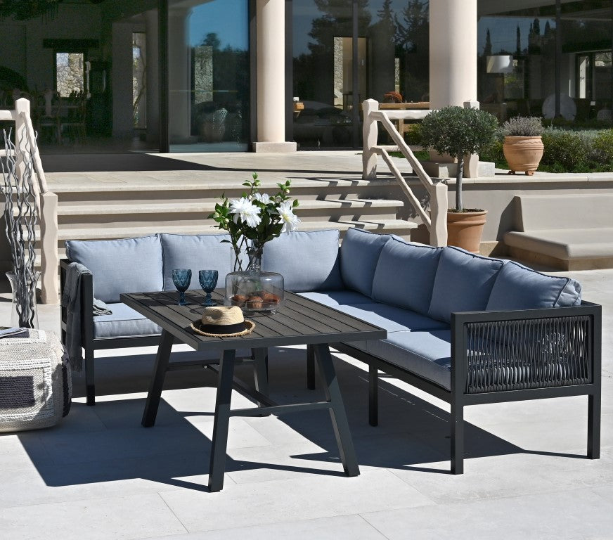 BILBOA OUTDOOR SECTIONAL WITH CENTER TABLE