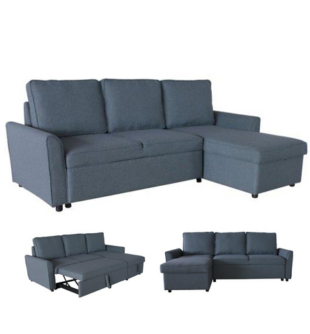 RUBY SECTIONAL CORNER SOFABED (DARK GREY)