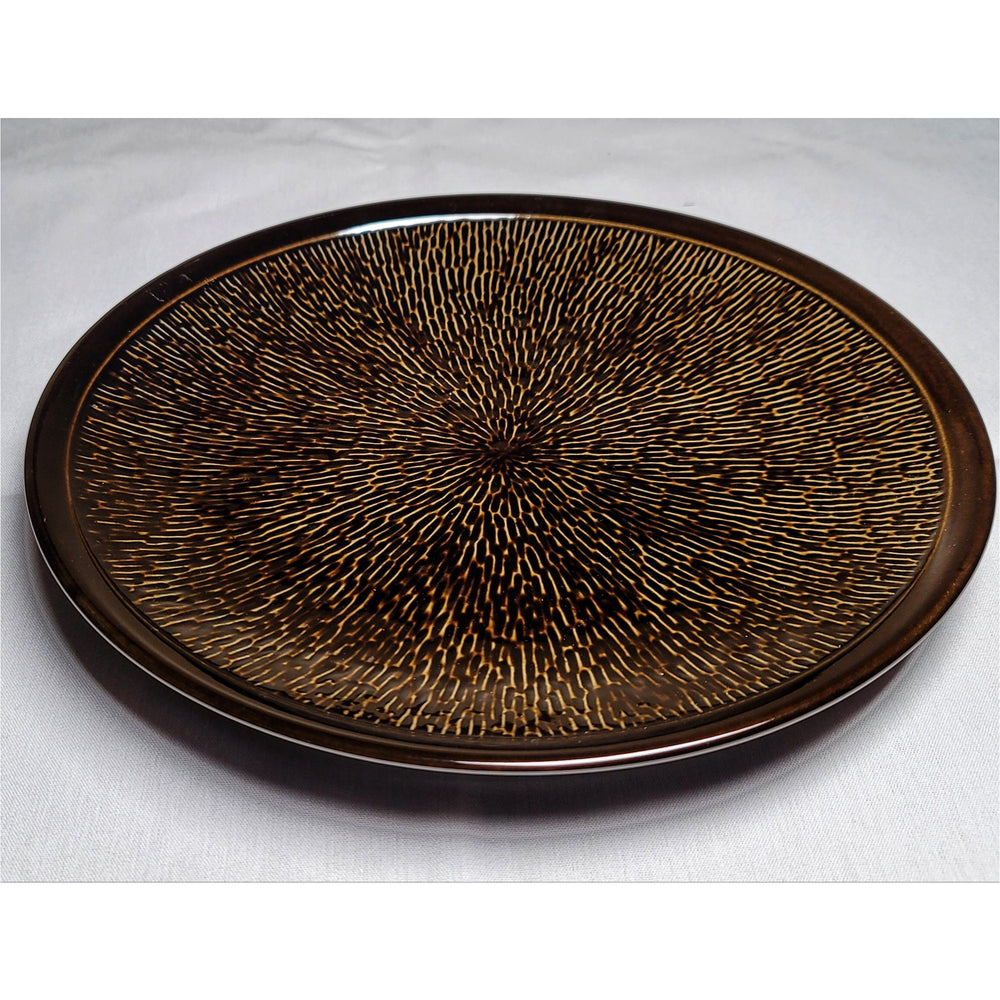 "Brown Glossy Glaze 10.5"" Dinner Plate - Cherven Tableware Supplies"