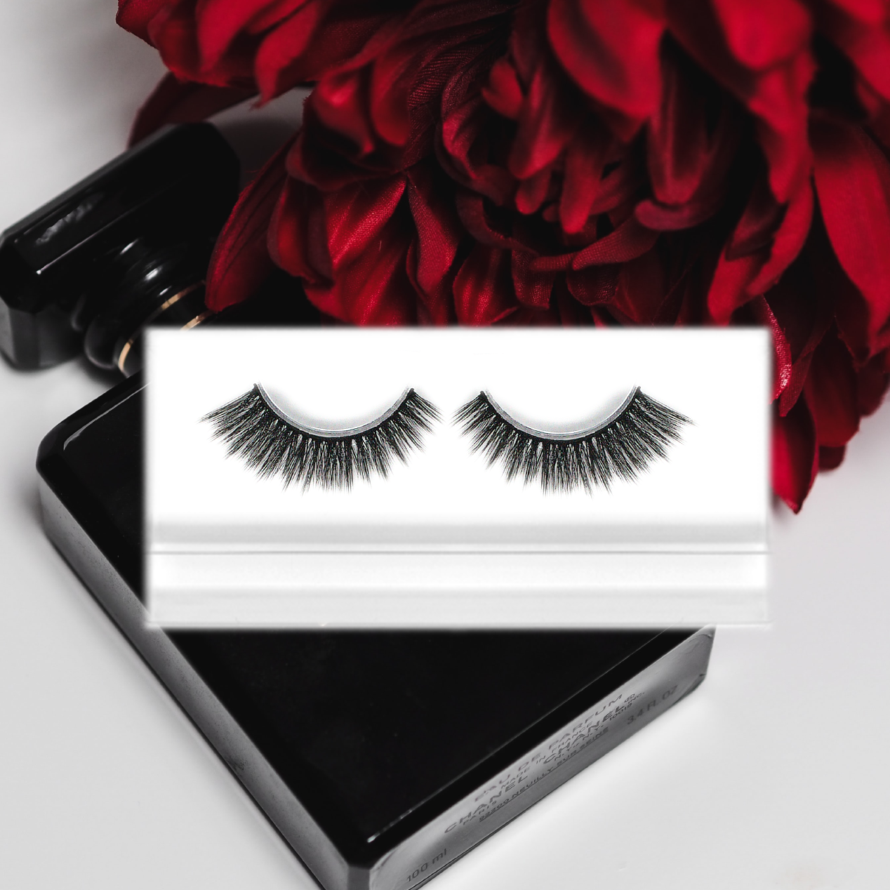 heartbreaker cat-eyed fashion fluttery lashes with perfume red rose design