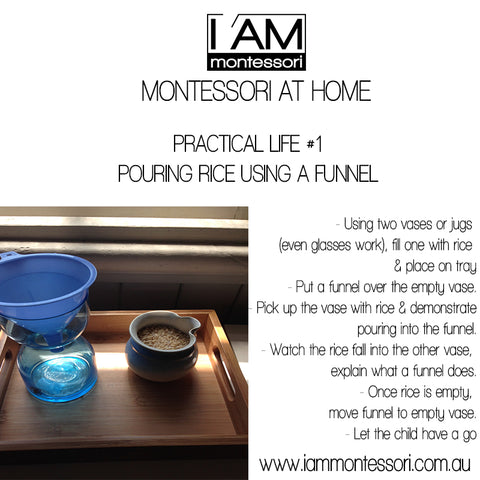 {MONTESSORI AT HOME} #1 Practical Life