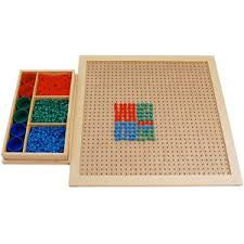 Wooden Peg Board with Pegs