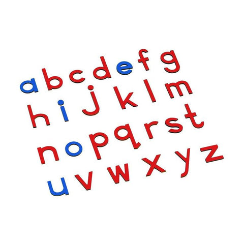 *Blue and Red Small Movable Alphabet