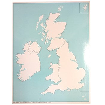 Unlabeled UK Control Map