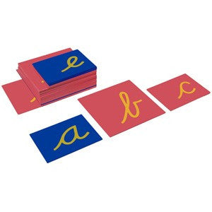 Lowercase Cursive Sandpaper Letters Only