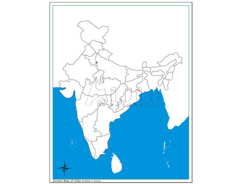Unlabeled India Control Map