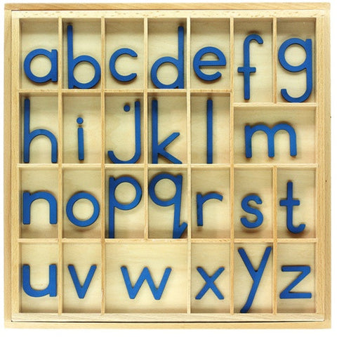 Blue Small Movable Alphabet