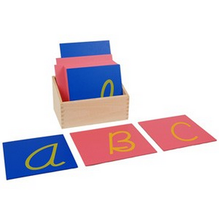 Capital Case Cursive Sandpaper Letters w/ Box