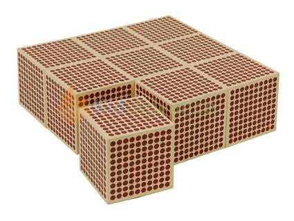9 Wooden Thousand Cube