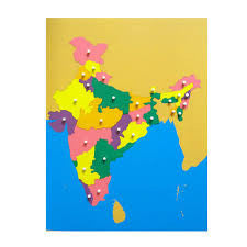 Puzzle Map of India